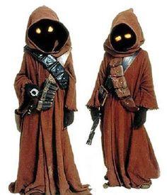 STAR WARS Jawa Costume Eyes Orange or Yellow on/off switch your choice #Halloween