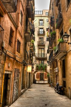 Gothic District, Barcelona Spent lots of time there. Oh The Places You'll Go, Places To Travel, Places To Visit, Hotel W, Barcelona Spain Travel, Travel Aesthetic, Cool Pictures, Travel Photography, Beautiful Places