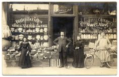 For All Your Grocery and Hardware Needs: Maison Laurent! (1905) by postaletrice, via Flickr