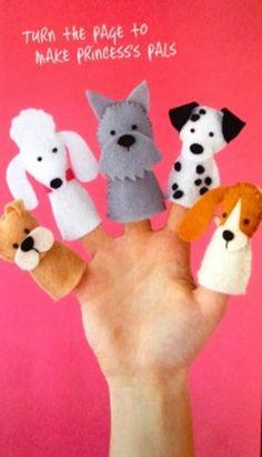 Eu Amo Artesanato: Dedoche de cachorrinhos