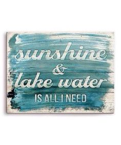 Sunshine and lake water is all I need