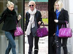 ooh I love that purple bag...