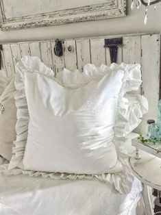 Your place to buy and sell all things handmade : Ruffled Euro Covers Ruffled Sh. : Your place to buy and sell all things handmade : Ruffled Euro Covers Ruffled Shams ShabbyChic Pillow Cases