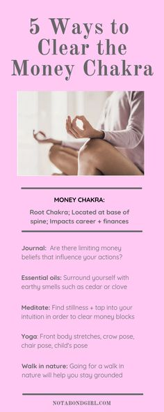Personal Development 5 Ways I Cleared My Money Chakra to Attract Wealth; Is Your Money Chakra Blocked? Daily Meditation, Chakra Meditation, Mindfulness Meditation, Chakra Healing, Meditation Space, Holistic Wellness, Holistic Healing, Natural Healing, Crystal Healing