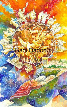 SUEÑO JUDÍO-JACOBS LADDER Letra de acuarela original por gadi dadon. Arte auténtico judía judaica. Temas principales en eso pintura- Escalera de Jacobs. Sueño-santo templo. El alma debe orar halleluja. La canción de la creación. Opciones de impresión-- 1. LONA STERCH IMPRESIÓN EN MADERA y LISTOS PARA COLGAR. 2. papel de impresión hermosa artistas de papel 250 g- tamaño a3 - 29 x 42 cm 3. LAMINADO LONA, unstreched, enviada en las fronteras de tube.white de seguridad para estiramientos Por...