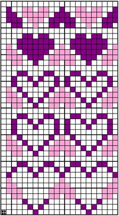 Ideas Knitting Charts Nordic – Oh, les rues de France! Fair Isle Knitting Patterns, Bead Loom Patterns, Knitting Charts, Knitting Stitches, Baby Knitting, Cross Stitch Patterns, Cross Stitch Heart, Beaded Cross Stitch, Crochet Blocks
