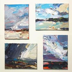 Four seasons in one day. The state park, a surfers reserve, shows me the full range of our weather. Moody, broody, loud and then very very gentle. Contemporary Landscape, Abstract Landscape, Abstract Art, Flow Painting, Knife Art, Palette Knife Painting, Soul Art, Pastel, Painting Techniques