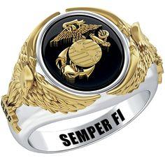 U.S. Marine Corps Eagle Ring - The Danbury Mint Marine Corps Rings, Marine Corps Emblem, Us Marine Corps, Once A Marine, Marine Mom, Us Navy, Usmc Birthday, Military Jewelry, Air Force