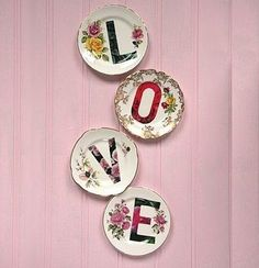 love these love plates would be cute for decor