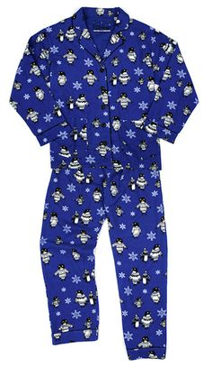 """PJ Salvage """"Winter Cool"""" Women's Flannel Pajama Set in Blue is the perfect pj for pajama days"""