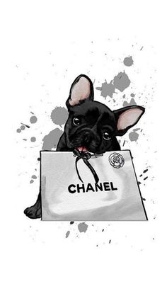 puppy art wallpaper * puppy art ` puppy art projects for kids ` puppy art drawing ` puppy art projects ` puppy art for kids ` puppy art for toddlers ` puppy art painting ` puppy art wallpaper French Bulldog Art, French Bulldog Puppies, French Bulldog Wallpaper, Chanel Wallpapers, Cute Wallpapers, Mode Poster, Chanel Wall Art, Bulldog Tattoo, Fashion Wall Art
