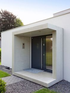 House entrance Modern designMedium sized entrance with - Haus Eingang - Mobel Modern Entrance, House Entrance, House With Porch, House Front, Front Door Canopy, Window Canopy, Awning Canopy, Gate Design, House Design