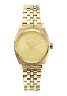 5d80c3e6f72 Nixon Womens Small Time Teller SW C3PO Gold A399SW2378 Gold StainlessSteel  Quartz Watch