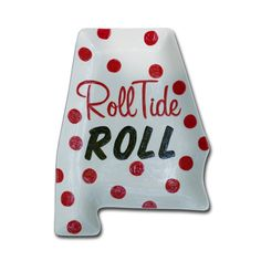 Roll Tide Roll Painted Platter by cliquecreative on Etsy, $23.00