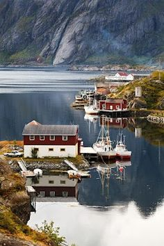 Sund, Lofoten Islands, Norway.    Lofoten is an archipelago and a traditional district in the county of Nordland, Norway. Though lying within the Arctic Circle, the archipelago experiences one of the world's largest elevated temperature anomalies relative to its high latitude.