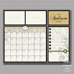 16x20 Custom Yellow Everyday Message Center Calendar - 16x20 JPEG Digital/Printable File - You Print