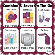 #Scentsy on the go! Combine & Save. Place an order at: http://ashleypaige.scentsy.us/