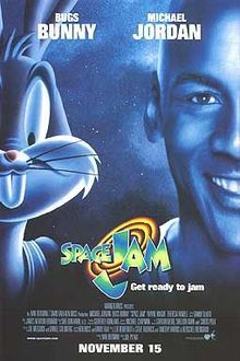 Hare Jordan! Michael Jordan retires from basketball just as space toons suck the talent out of the NBA to challenge the Looney Tunes. Bugs summons Air Jordan to pump up the Reebok Pumps of his fellow toons. And that's what's up, doc!