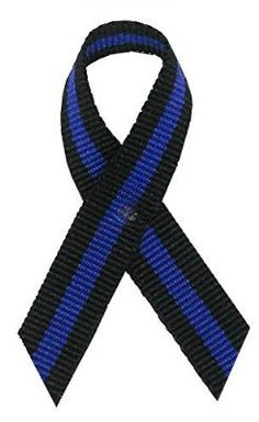 Thin Blue Line Awareness Ribbons. Bag of 250 for $20 or 100YD roll for $11.25! Show support for fallen police officers at The Ribbon Factory.