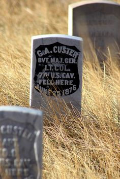 Little Big Horn National Battlefield, Montana Someday I'll have to go here and see this. General Custer was my 2nd cousin, 6 times removed.