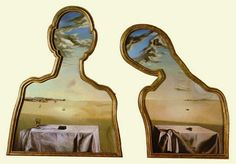 Couple with Their Heads Full of Clouds - Salvador Dali