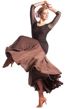 This beautiful dress is perfect for Ballroom, Standard, Smooth dancing. Features 3/4 stretch net sleeve, solar skirt with gold shimmer effect fabric, lovely open back. Model is wearing size XS/S.
