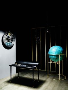 Wallpaper Magazine  Bellerby  Co bespoke Globemakers - Stoke Newington - London - England - Globes - Golden - www.bellerbyandco.com