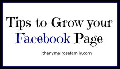 Tips to Grow your Facebook Page @russej10 #facebook #tips