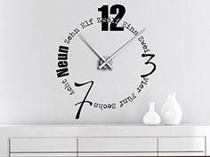 Wandtattoo Uhr Schriften