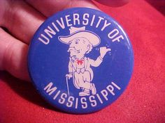 Ole Miss button College Fun, College Football, Mississippi Football, Ole Miss Football, Ole Miss Rebels, Vintage Football, 1960s, Button, Party