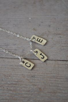 3 Initials Necklace by LFJewelryDesigns on Etsy, $45.00