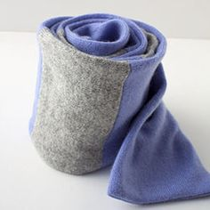 How to make scarf out of old cashmere sweater