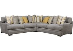 Cindy Crawford Home Palm Springs Gray 3 Pc Sectional. $1,988.00. 117W x 117D x 37H. Find affordable Sectionals for your home that will complement the rest of your furniture.