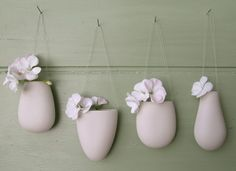 porcelain hanging drop vase