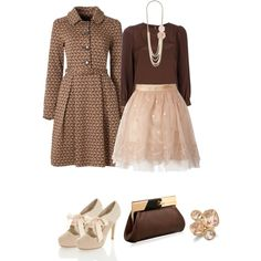 Brown and Frill Blush Skirt :)