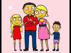 la familia para niños.canción infantil.
