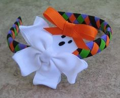 Halloween Hair Clip Boutique Ghoully Girl Ghost Clippie NO SLIP Bubbipop EXCLUSIVE Only found here. $3.49, via Etsy.