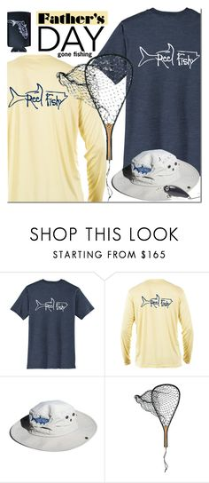"""Reel Fishy Apparel"" by mada-malureanu ❤ liked on Polyvore featuring But Another Innocent Tale, men's fashion, menswear, hats, Tee, Fishing, father and reelfishyapparel"