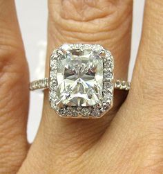 #Antique #Vintage Cushion-Cut #Diamond E-Ring (3.51cts) (Perfect!)