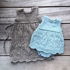knittingforolive: Patterns for these two dresses are available in English as well as Danish at our website ! #knittingpatternsbaby