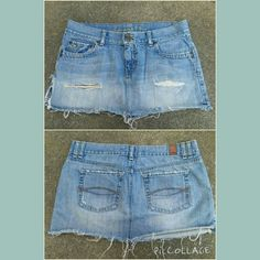 Abercrombie & Fitch Distressed Jean Mini Skirt Super cute A&F distressed and destroyed jean mini!! Light wash color. A Must have for Spring & Summer nights!   See Disclosure  Size 6  No trades No paypal Abercrombie & Fitch Jeans