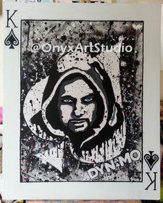 King Of Spades Original Acrylic Painting by OnyxArtStudio on Etsy, £130.00