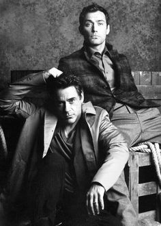 Robert Downey Jr. & Jude Law... There's a whole lotta sexy in this picture!! I WANT TO LICK MY SCREEN!