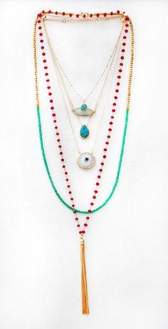 TASSEL rosary necklace