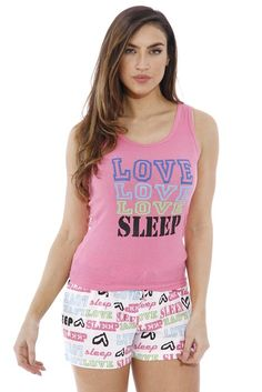 6216-2-M Just Love Women Sleepwear / Short Sets / Woman Pajamas Love Sleep Pink Medium