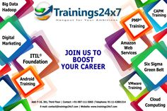 Trainings24x7 is a certified organization that offers training and consulting for professional courses globally. We are staffed by teams of certified trainers who have years of experience in their respective fields. Our trainers combine innovative techniques with tried and tested delivery methods blended with real life scenarios to make the learning interesting and applicable in professional career. http://trainings24x7.com/