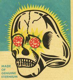 Comic book ad circa 1960...kids Skull Ring w/ jewelled eyes..!