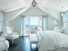 Surfside Chic Nantucket - beach style - bedroom - boston - by Donna Elle Seaside Living Beach House Bedroom, Bedroom Retreat, Home Bedroom, Seaside Bedroom, Bedroom Ideas, Dream Bedroom, Beach Room, Bedroom Decor, Bedroom Inspiration
