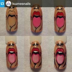 Popular Photos Of Short Nails Designs Orange Nail Designs, Square Nail Designs, Diy Nail Designs, Pedicure Nail Art, Nail Manicure, Diy Nails, Funky Nail Art, Nails 2017, Nail Art Galleries