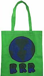 Earth Day Tote Craft -- Reuse, Recycle and Reduce